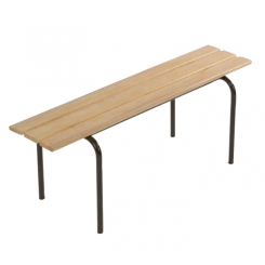 Bancs empilables finition sapin vernis