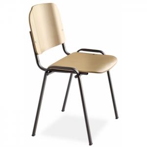 Chaise de réunion assise bois