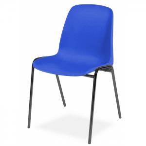 Chaise coque accrochable pieds noirs - Anti-feu Classe M2