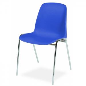 Chaise coque accrochable pieds chromés - Anti-feu Classe M2