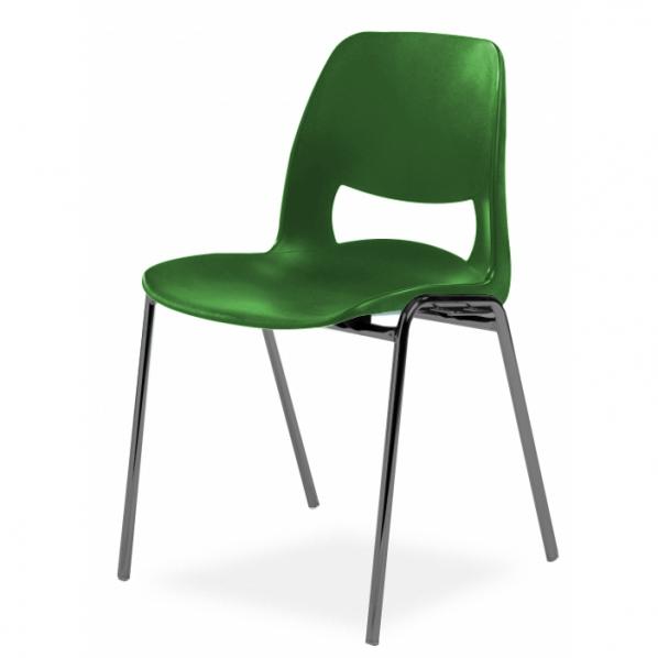 Chaise Coque Design Pieds Noirs
