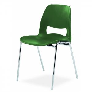 Chaise coque design pieds chromés