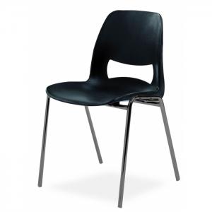 Chaise coque design accrochable pieds noirs - Classe M2