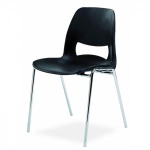 Chaise coque design accrochable pieds chromés - Classe M2
