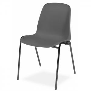 Chaise coque accrochable pieds epoxy noir