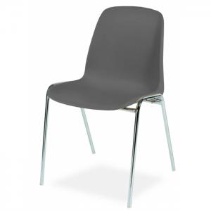 Chaise coque accrochable pieds chromés