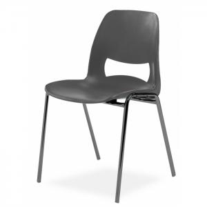 Chaise coque design accrochable pieds noirs