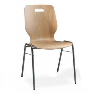 Chaise coque en bois