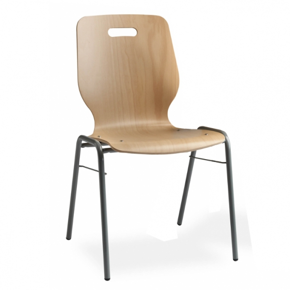Chaise coque en bois roll for Chaise coque