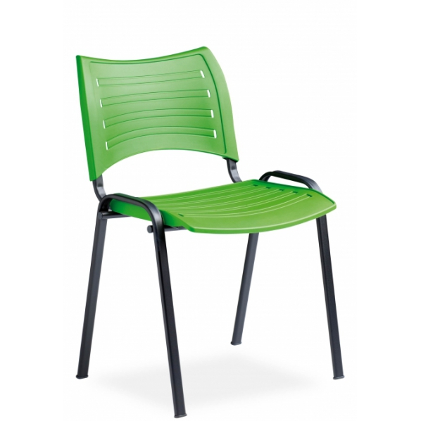 chaise de conf rence assise plastique roll. Black Bedroom Furniture Sets. Home Design Ideas