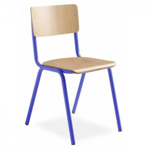 Chaise scolaire tube et bois