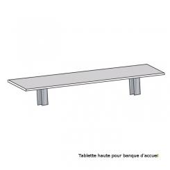 Tablettes pour banque d'accueil modulaire DESIGN