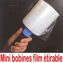 Mini bobines de film étirable avec dérouleur
