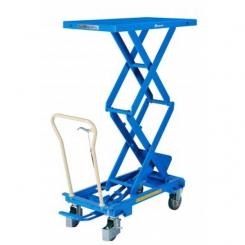 Table élévatrice hydraulique mobile double ciseaux