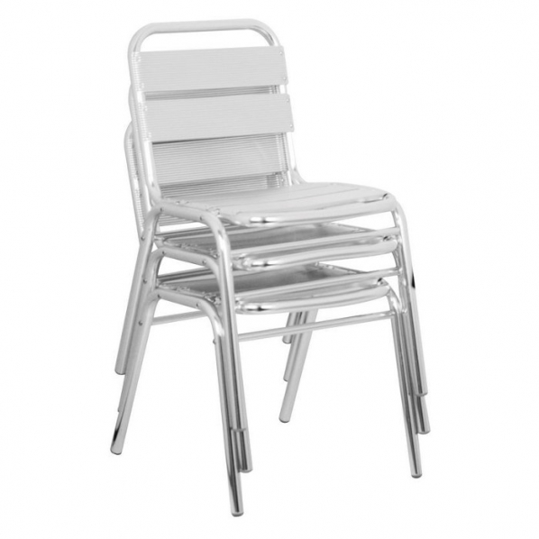 chaise alu restaurant image 2 - Chaise Aluminium