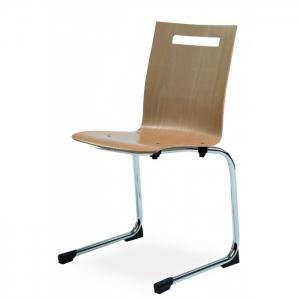 Chaise luge design à coque bois