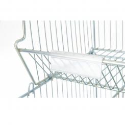 Porte-étiquettes PVC - Longueur 120 mm