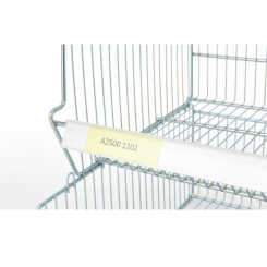 Porte-étiquettes PVC - Longueur 900 mm