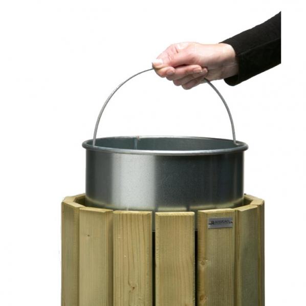 seau pour corbeille en bois 20 litres roll. Black Bedroom Furniture Sets. Home Design Ideas