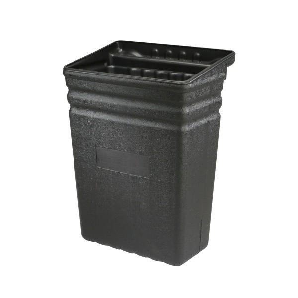 Grand bac poubelle amovible Noir