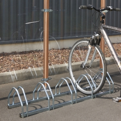 Râtelier 5 vélos au sol - Face à face