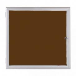 Vitrine fine d'extérieur vitre plexi - Tôle marron