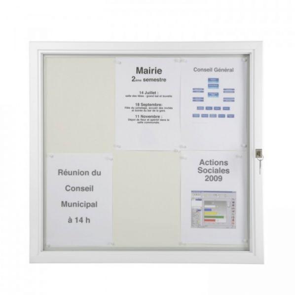 Vitrine d 39 ext rieur plate vitre plexiglas cadre blanc - Cadre photo plexiglas a4 ...