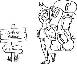 Pictogramme aire de camping