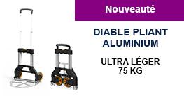 Diable pliant aluminium 75 kg