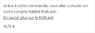 Rollcash affiché dans le panier