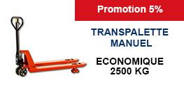 Transpalette manuel économique 2500 kg