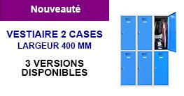 Vestiaire 2 cases superposées 400 mm
