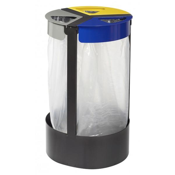 support sac poubelle 3 flux