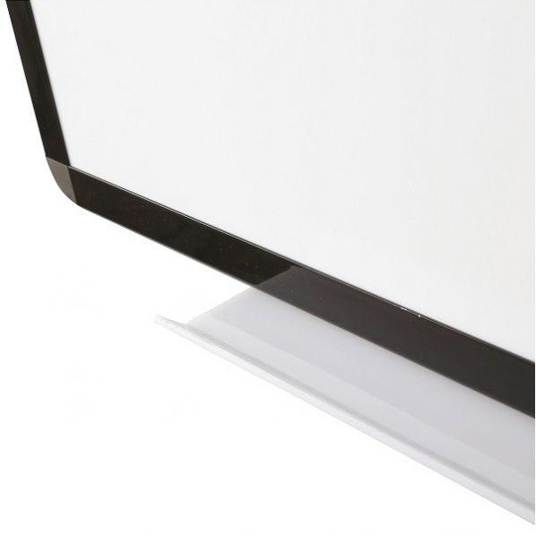 Tableau blanc émaillé cadre noir - hauteur 900 mm