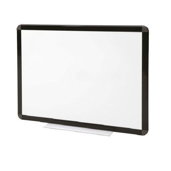 Tableau blanc émaillé cadre noir - hauteur 1000 mm
