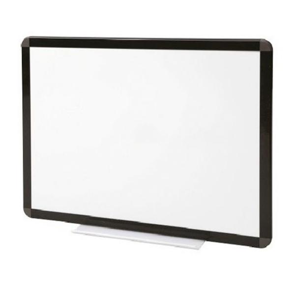Tableau blanc émaillé cadre noir - hauteur 1200 mm