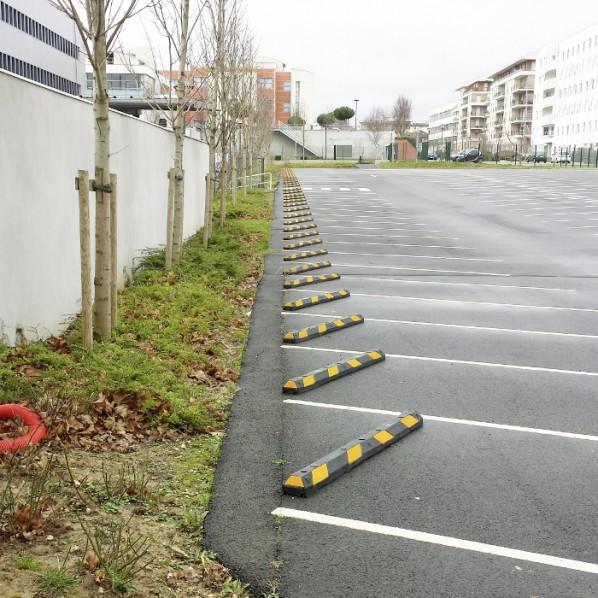Butée de parking caoutchouc