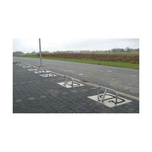 Base caoutchouc pour barrière de parking
