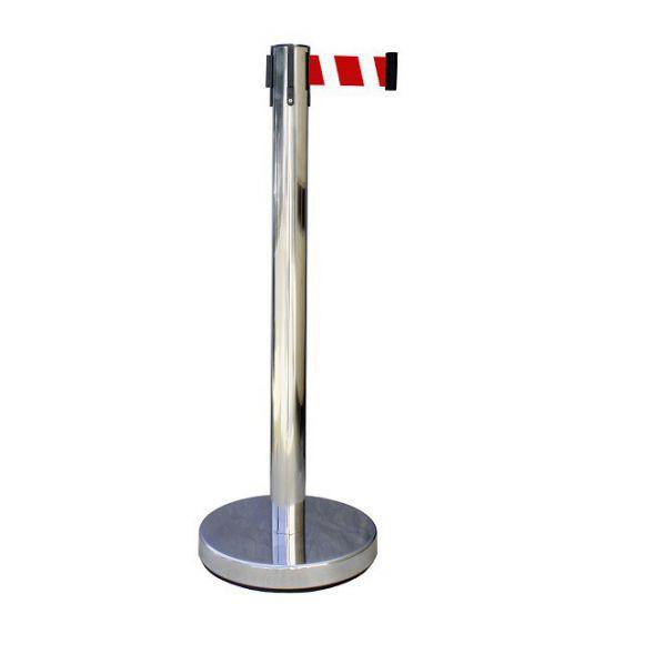 Poteau à sangle chrome 2 mètres - Economique
