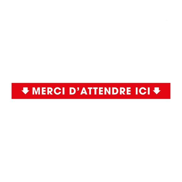 Pictogramme merci d'attendre ici