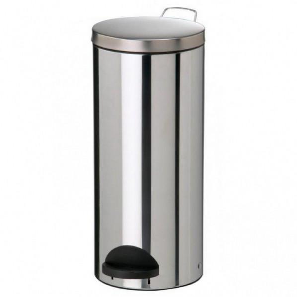 Poubelle métal à pédale - 30 litres