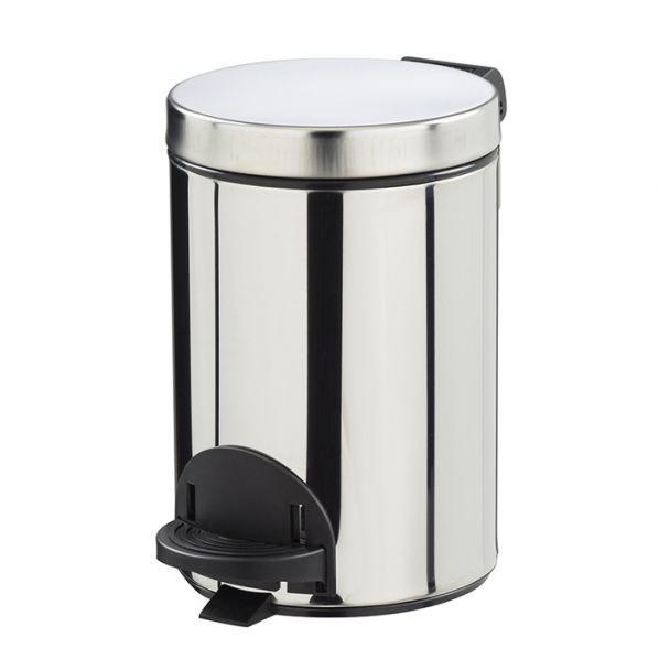 Poubelle métal à pédale - 3 litres