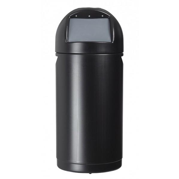 Poubelle avec couvercle à trappe 52 litres