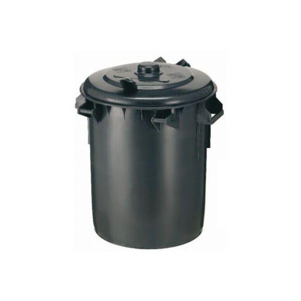 Poubelle ronde avec poignée 70 litres