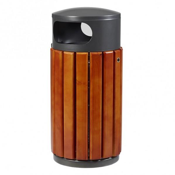 Corbeille bois métal à poser ZENO
