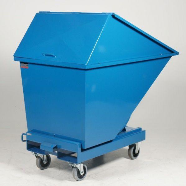 Chariot benne avec couvercle haut 400 litres