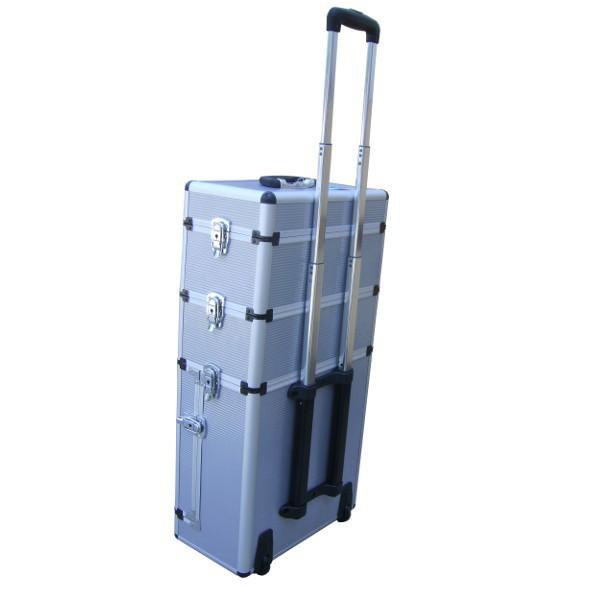 Mallette trolley 3 niveaux en aluminium