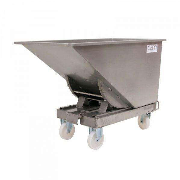Chariot benne inox 600 à 900 litres