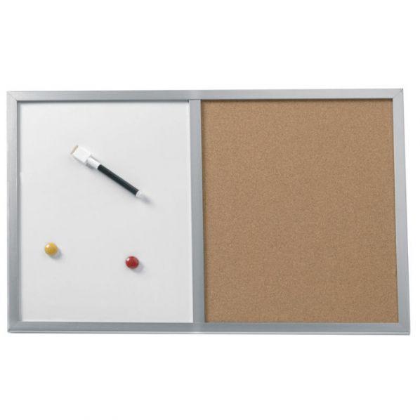 Tableau d'affichage mixte avec cadre bois