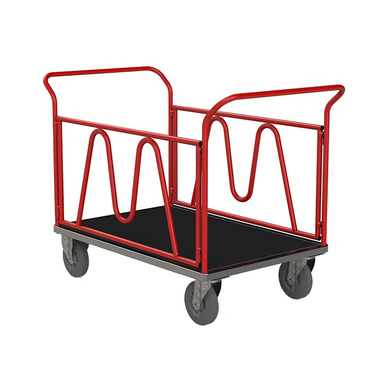 Chariots 2 ridelles - 2 dossiers nus - 500 kg